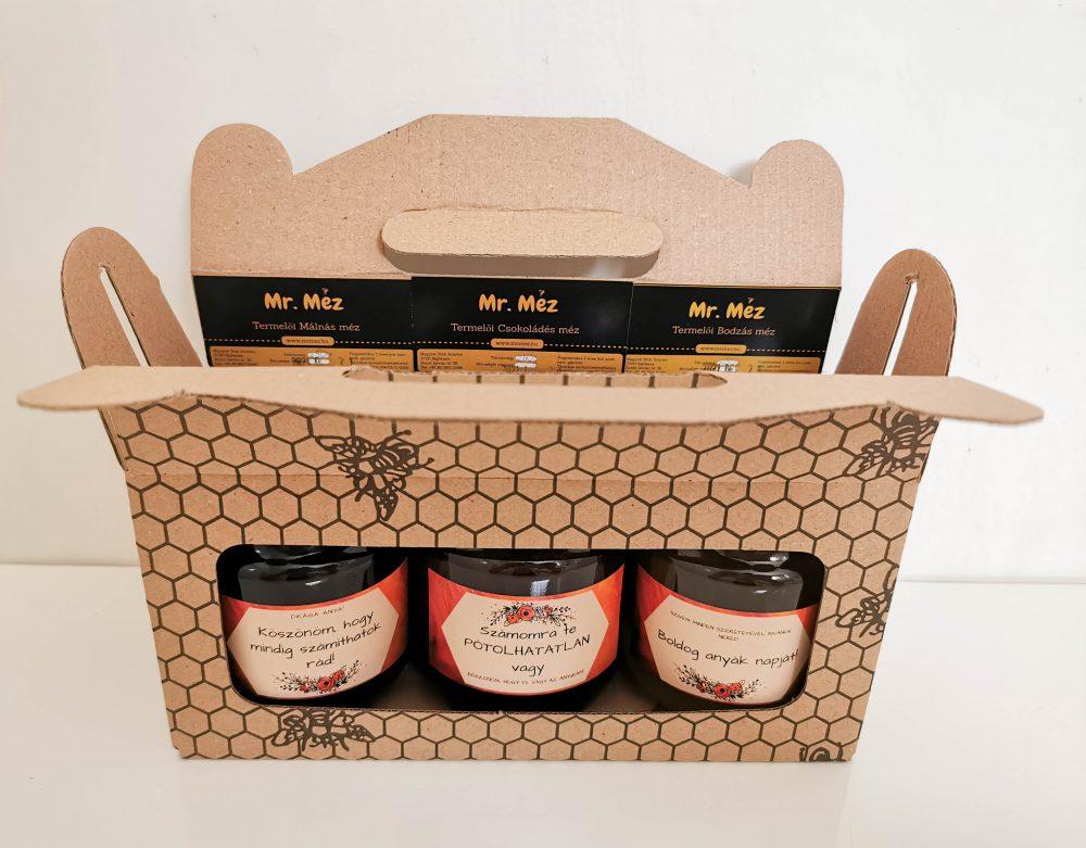 anyáknapi mézes csomag